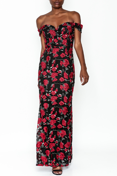 Shoptiques Product: Rose Embroidered Gown