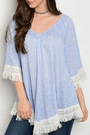 Soieblu Sky Blue Tunic Top - Product Mini Image