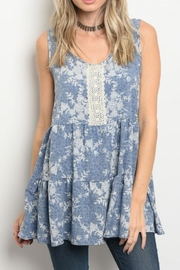 Soieblu Sleeveless Peasant Top - Front cropped