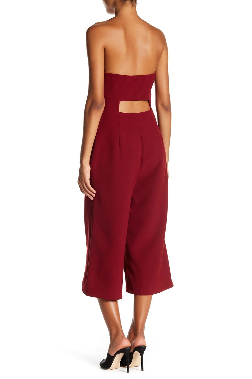 Soieblu Strapless Cropped Jumpsuit - Front Full Image