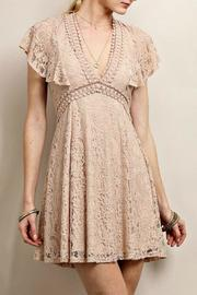 Soieblu Taupe Lace Dress - Product Mini Image