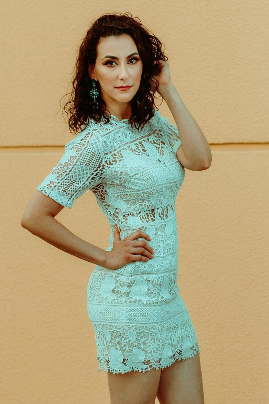 Soieblu White Lace Dress - Main Image