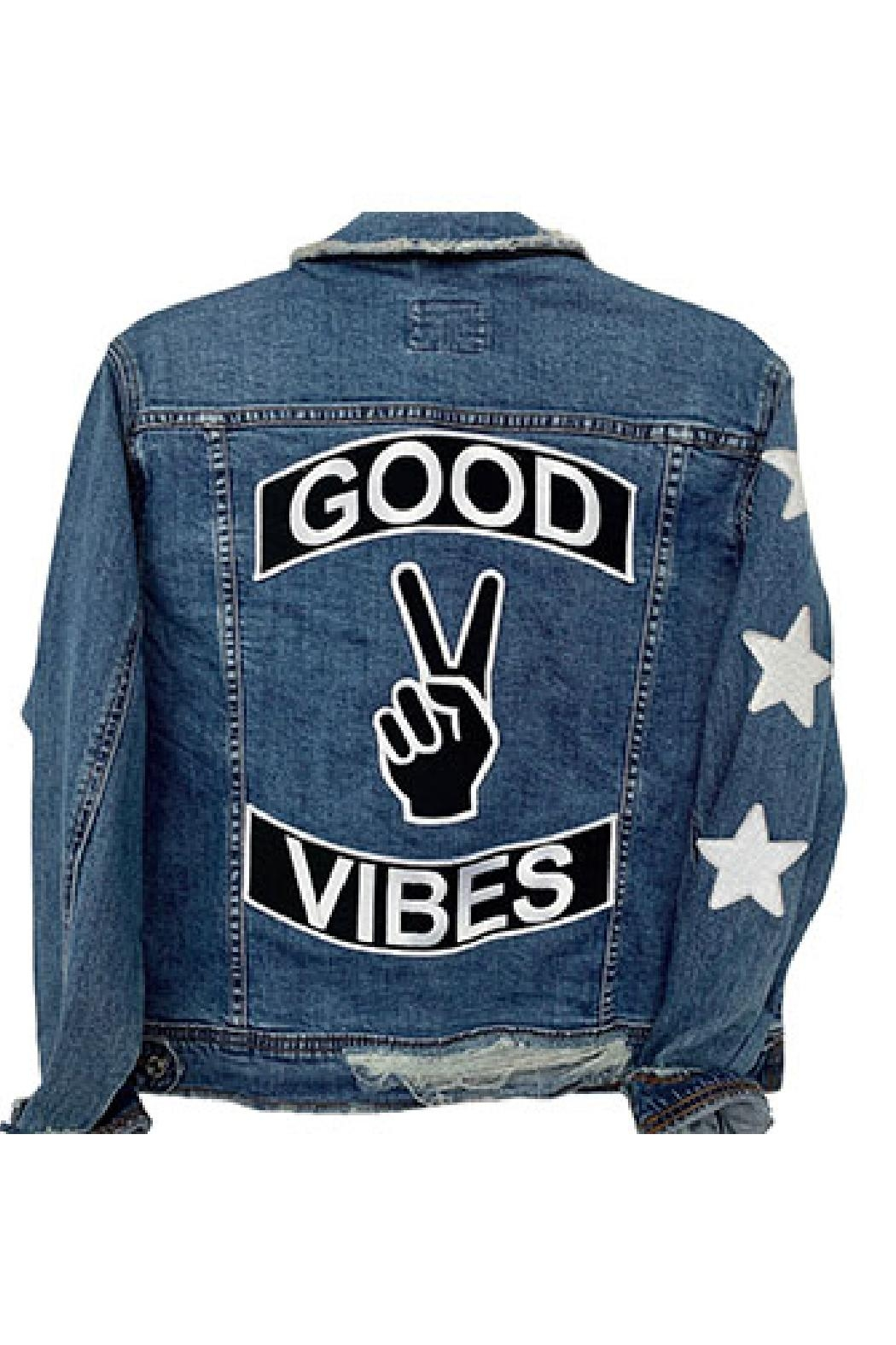 Sojara Vintage Denim Good Vibes Jacket - Main Image