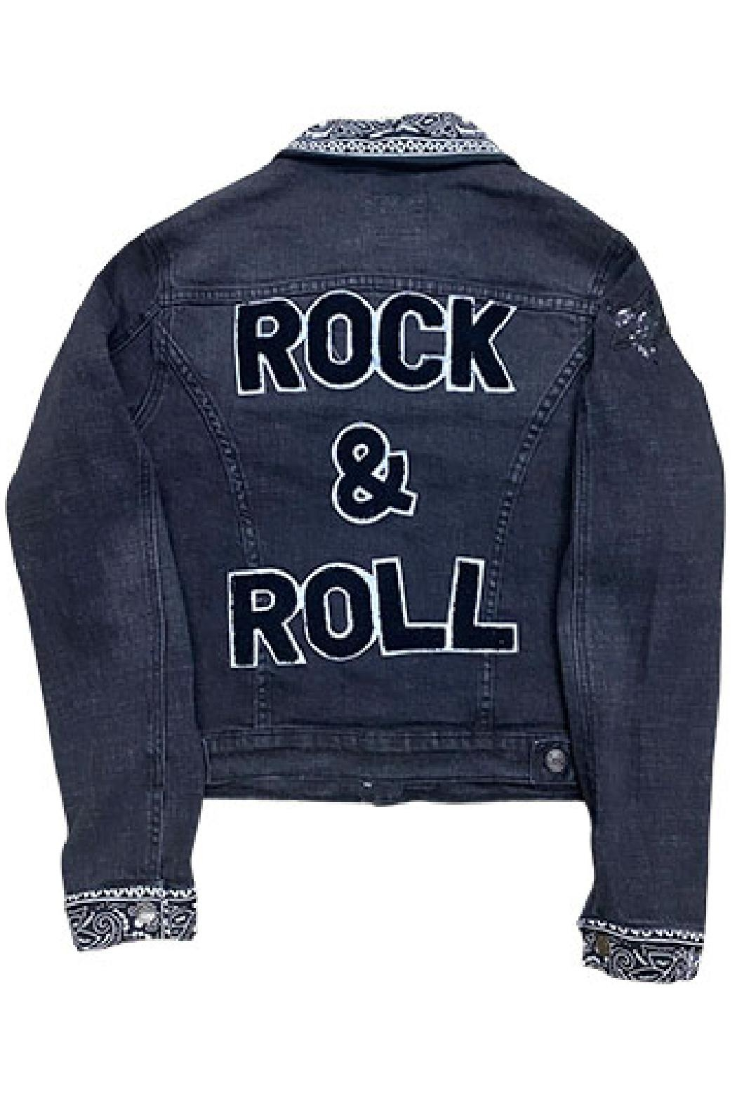 Sojara Vintage Denim Rock And Roll Jacket - Front Cropped Image
