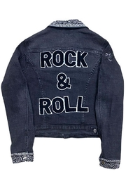 Sojara Vintage Denim Rock And Roll Jacket - Front cropped