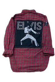 Sojara Vintage Elvis Dot Flannel Shirt - Product Mini Image