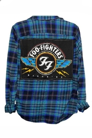 Sojara Vintage Foo Fighters Flannel Shirt - Front cropped