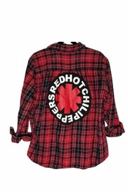 Sojara Vintage Red Hot Chili Peppers Flannel Shirt - Front cropped