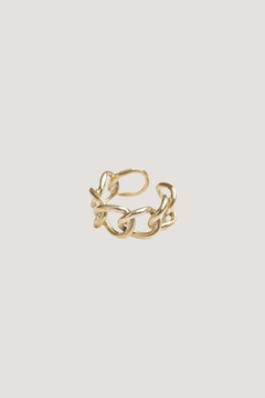 SOKO Fania Link Ring Brass - Alternate List Image