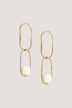 SOKO Large Linked Sawa Drop Earrings - Alternate List Image