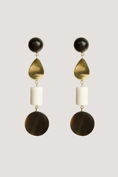 SOKO Luo Mixed Material Dangle Earrings - Alternate List Image