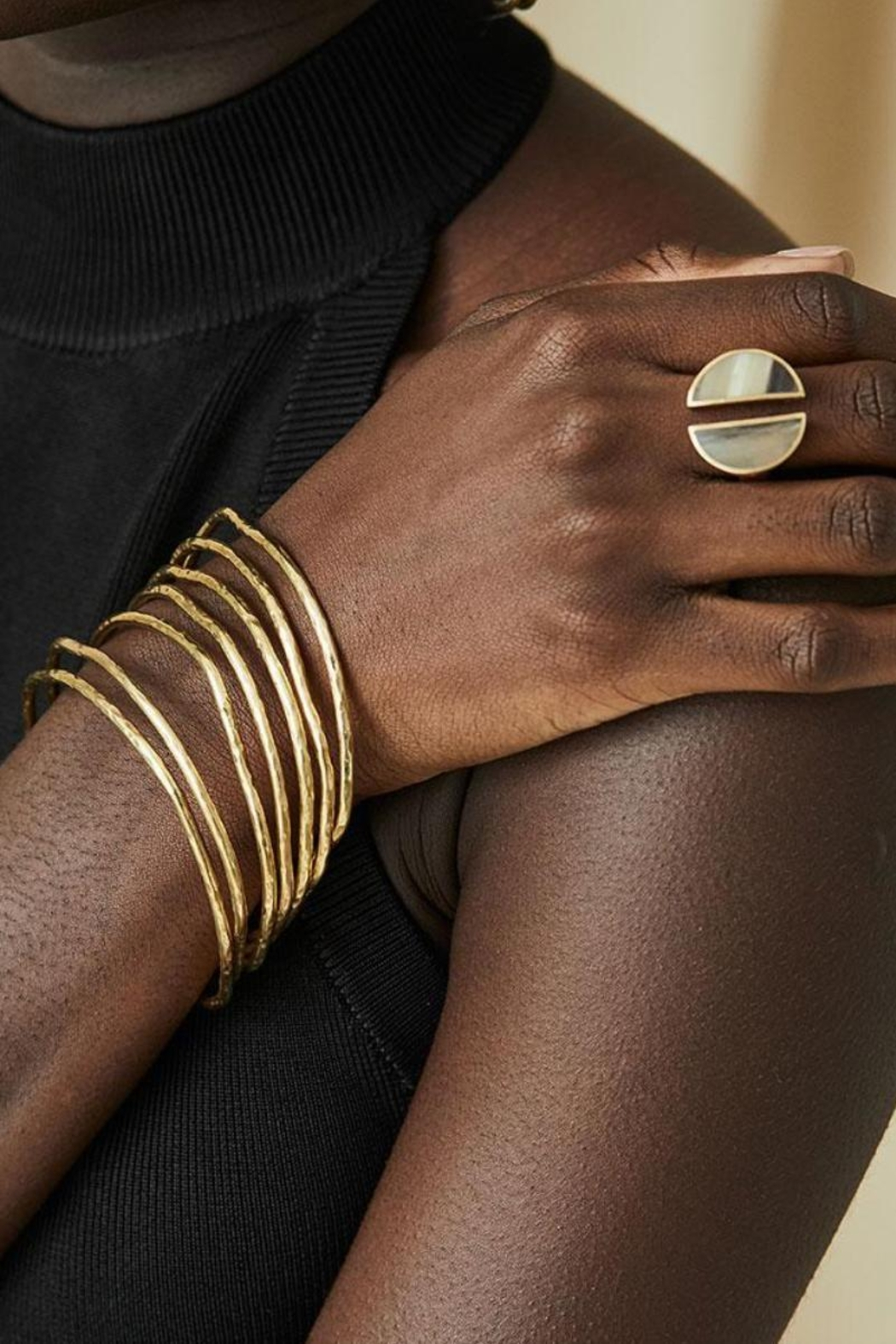 SOKO Twist Stacked Bangles - Front Full Image