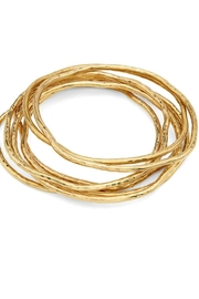 SOKO Twist Stacked Bangles - Front cropped