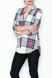 SOL Plaid Top - Front cropped