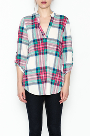 SOL Plaid Top - Front full body