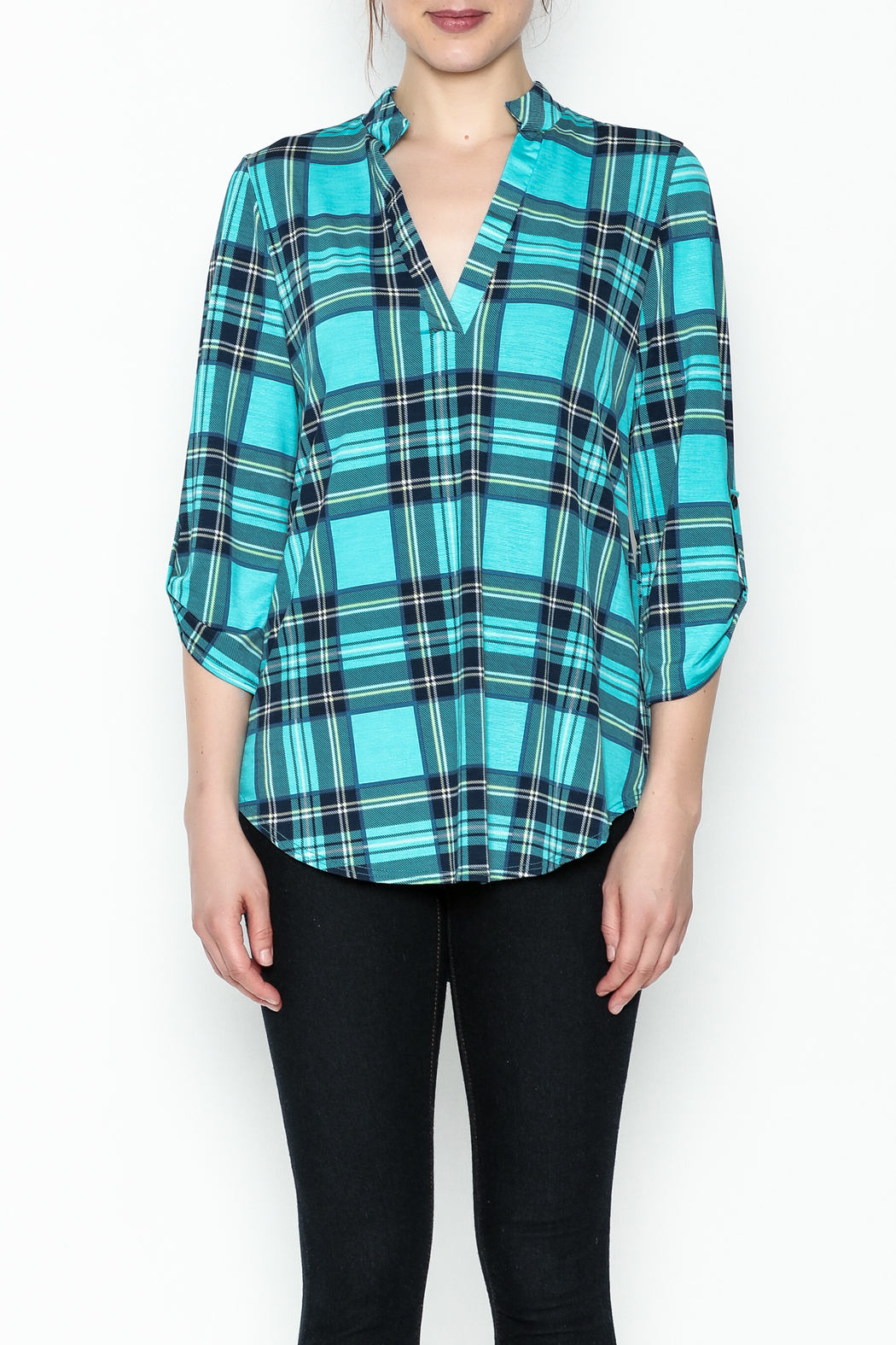 SOL Plaid Top - Front Full Image