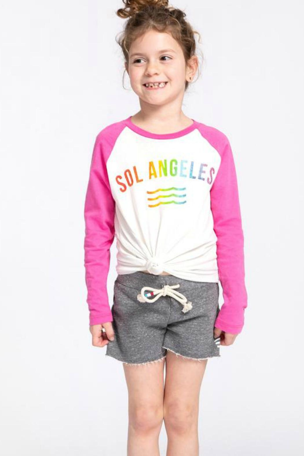 Sol Angeles Rainbow Baseball Tee - Front Full Image