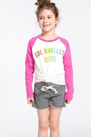 Sol Angeles Rainbow Baseball Tee - Front full body