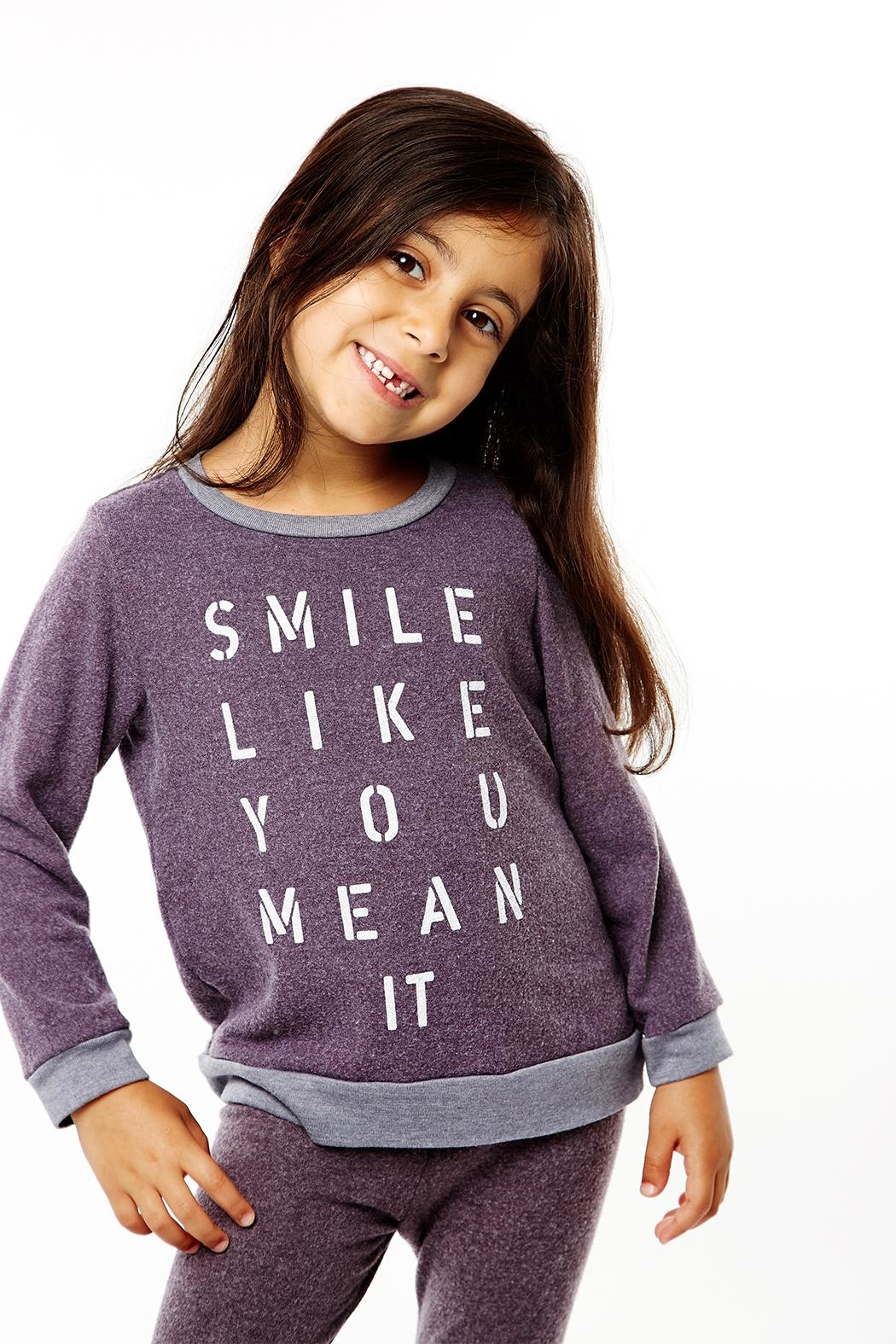 Sol Angeles Smile Pullover Top - Front Full Image