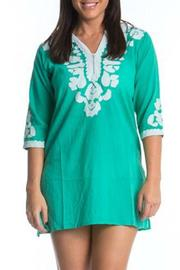Sol Clothing Green Embroidered Tunic - Product Mini Image