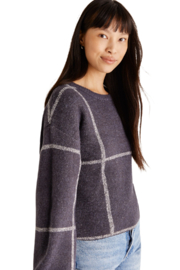 z supply  Solange Plaid Sweater - Front full body