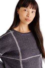 z supply  Solange Plaid Sweater - Back cropped