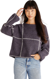 z supply  Solange Plaid Sweater - Front cropped
