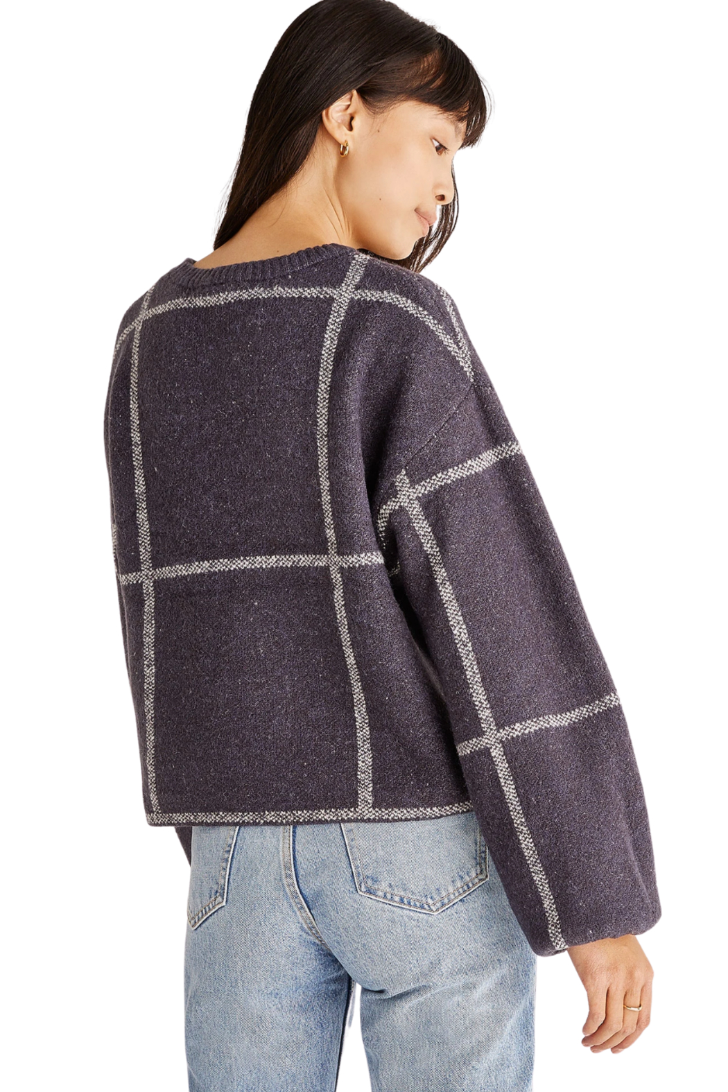 z supply  Solange Plaid Sweater - Side Cropped Image