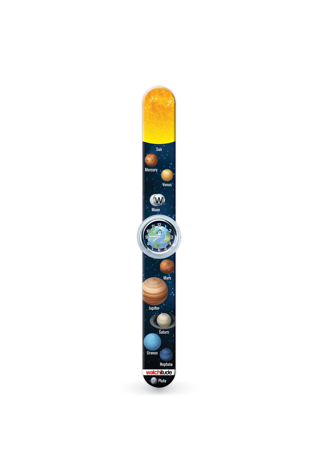 Watchitude Solar System Slap Watch - Front Full Image