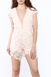 Solaris Style Sleeveless Lace Romper - Product Mini Image