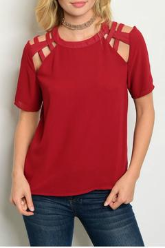 Shoptiques Product: Burgundy Caged Top