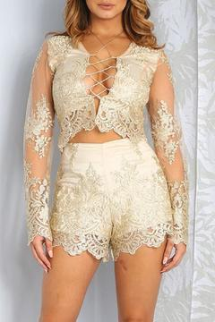 Shoptiques Product: Gold Lace Set