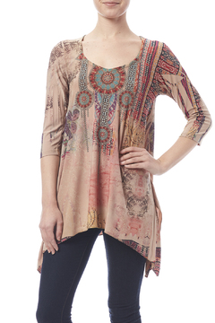 Shoptiques Product: Beautiful Tribal Printed Top