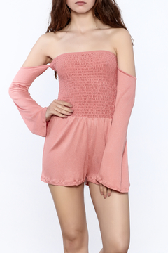 Shoptiques Product: Coral Smocked Romper