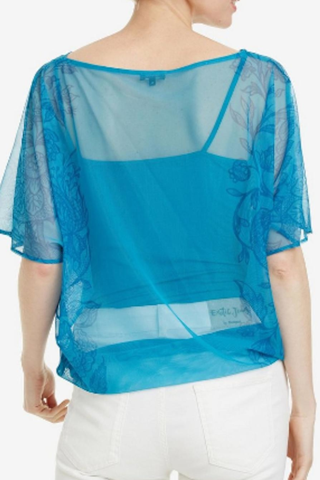 DESIGUAL Sole Print Top - Side Cropped Image