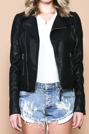 Sole Mio Laceup Moto Jacket - Side cropped