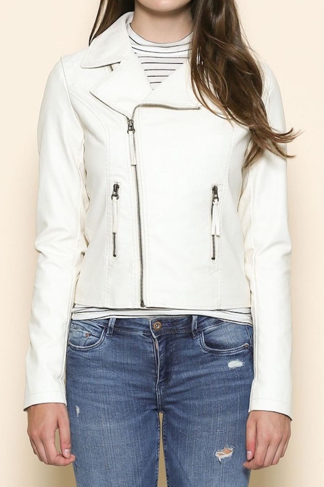 Sole Mio Laceup Moto Jacket - Front Full Image