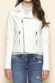 Sole Mio Laceup Moto Jacket - Front full body