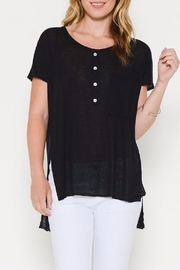 Sole Mio Black Casual Tee - Front cropped