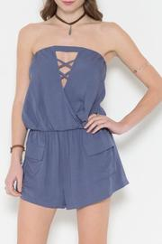 Solemio Romper With Cutout - Product Mini Image