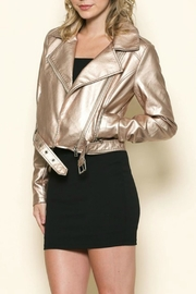 Sole Mio Rose-Gold Leather Jacket - Other