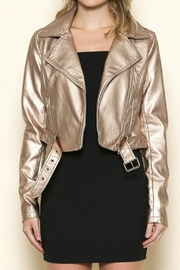 Sole Mio Rose-Gold Leather Jacket - Product Mini Image