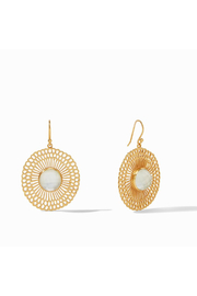 Julie Vos Soleil Earring-Gold/Iridescent Clear Crystal - Product Mini Image
