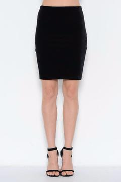 Shoptiques Product: Black Velvet Skirt