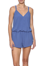 Solemio Blue Lace Romper - Product Mini Image