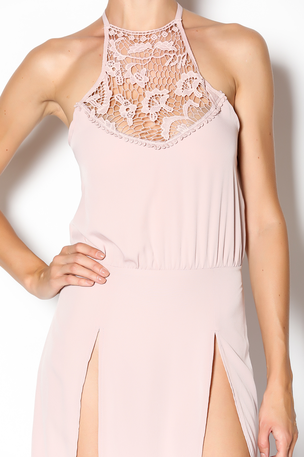Solemio Blush Maxi Dress - Side Cropped Image