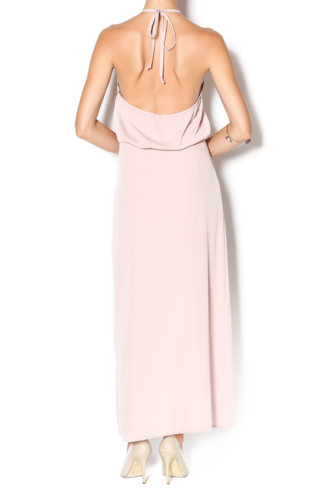 Solemio Blush Maxi Dress - Back Cropped Image