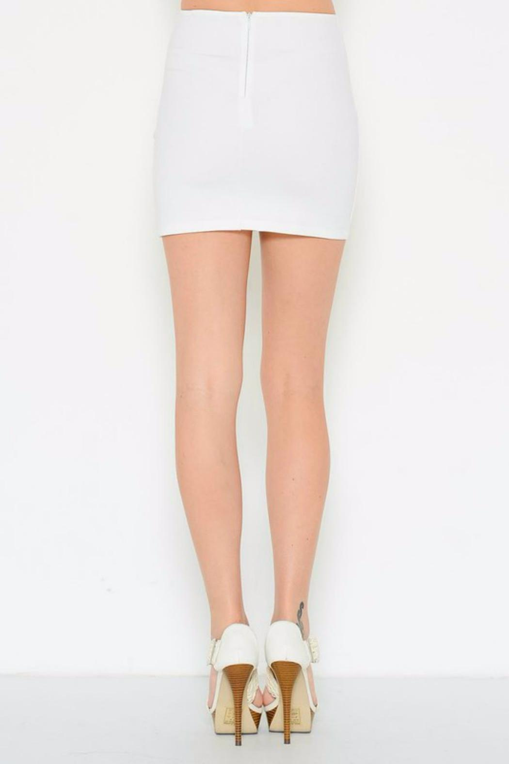 Solemio Bodycon Mini Skirt - Front Full Image