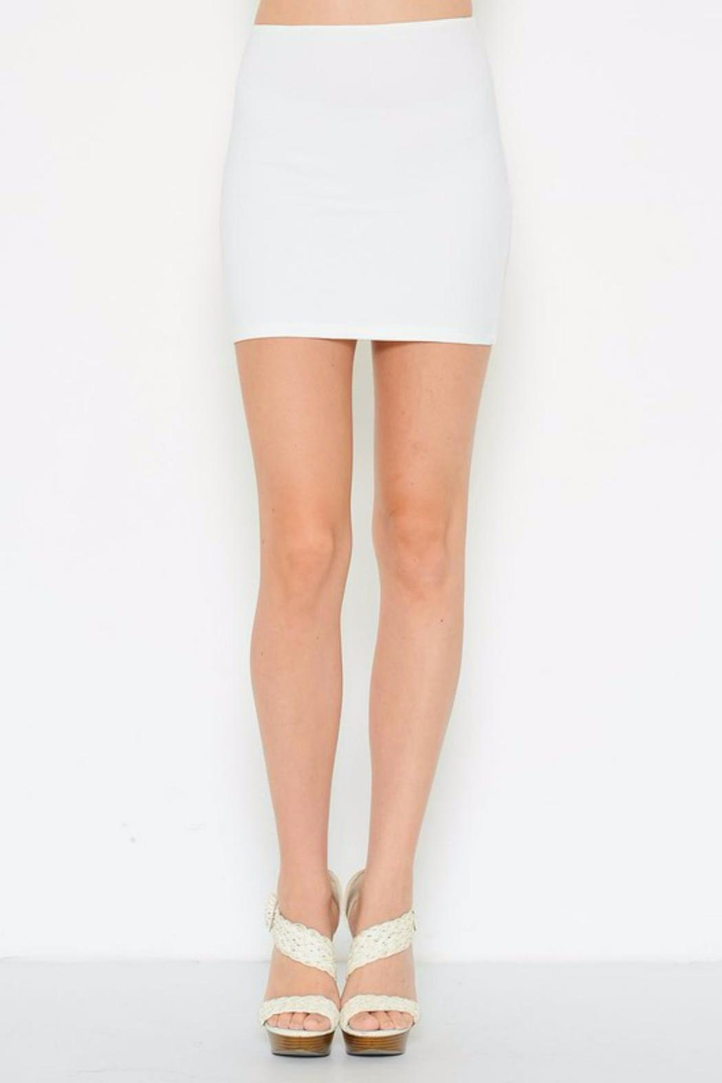Solemio Bodycon Mini Skirt - Front Cropped Image