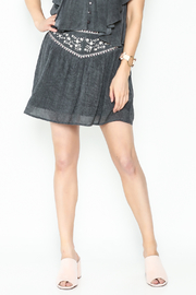 Solemio Embroidered Grey Skirt - Product Mini Image